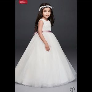 52a03195e0 David's Bridal · Ball Gown Flower Girl Dress with ...